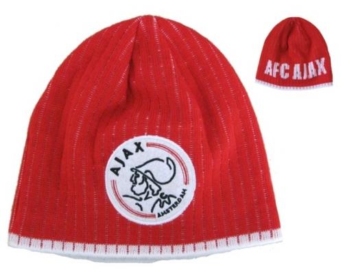 Ajax Muts Rood Logo Met Witte Letters