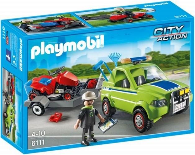 Voertuig Groenbeheer met Grasmaaier Playmobil 6111