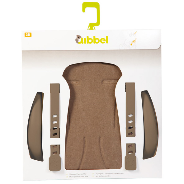 Qibbel stylingset achterzitje bruin