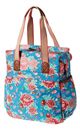 TAS BAS BLOOM SHOPPER DIVA BLAUW 17L,