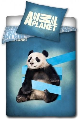 Dekbed Animal Planet Panda Blauw 140x200