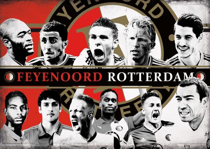 Puzzel Feyenoord spelers 1000 stukjes