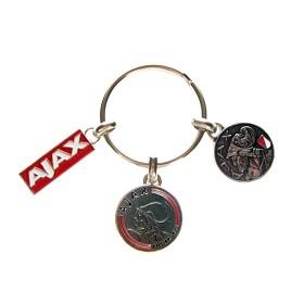 Ajax Sleutelhanger Metaal 3F 3 Sterren (SLEU012469)