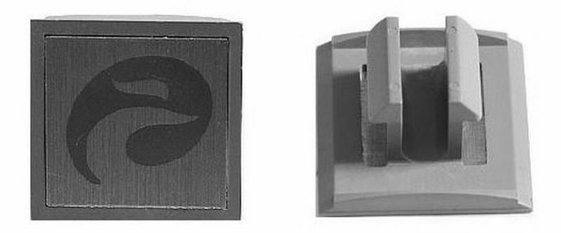 BAT SPATD STANGHOUDER CURANA 2 SINGLE PVC GRIJS