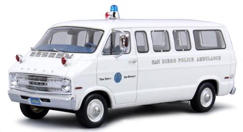 DODGE SPORTSMAN SAN DIEGO POLICE AMBULANCE 1973 NEO (1:43)