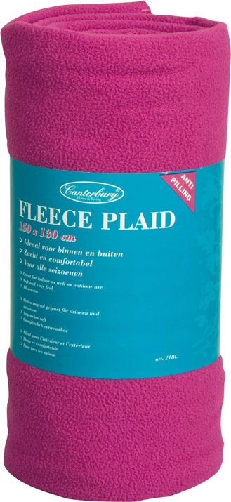 Plaid Fleece Deken Roze