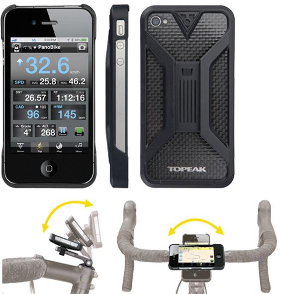 Topeak Iphone 4 houder RideCase zwart