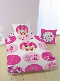Dekbed Barbie Cirkels 140x200/70x90 cm