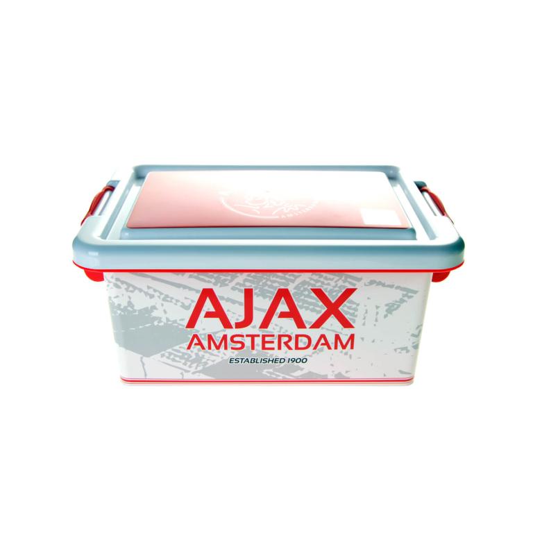 Opbergbox Plastic Ajax wit/rood logo 3.7 liter