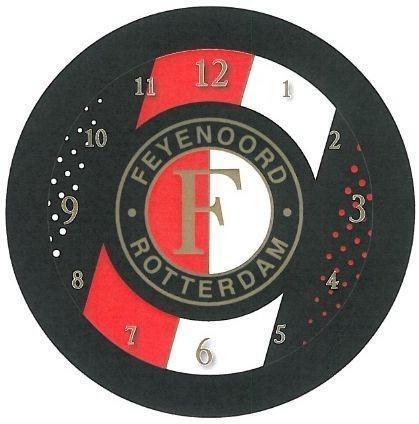 Klok Feyenoord Zwart Streep