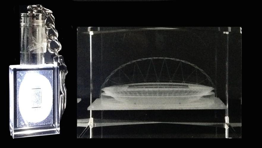 Stadion+slh Engeland kristal Wembley 7x6x5 cm