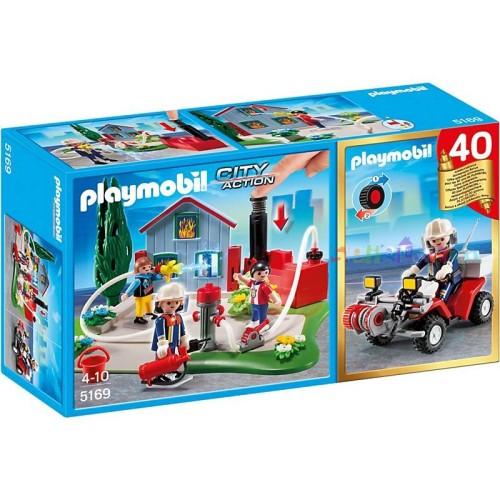 Brandweerinterventie met quad CompactSet Playmobil 5169