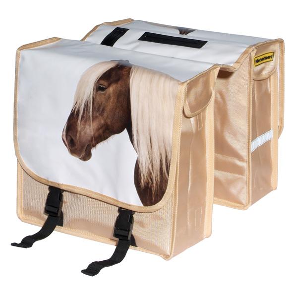 NV dubbele tas paard bisonyl