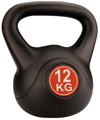 Avento Kettle Bell Plastic/Cement 12 kg Halter