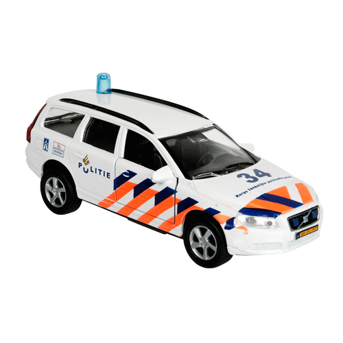 Auto pb Kids Globe Volvo V70 politie + licht/geluid (510628)