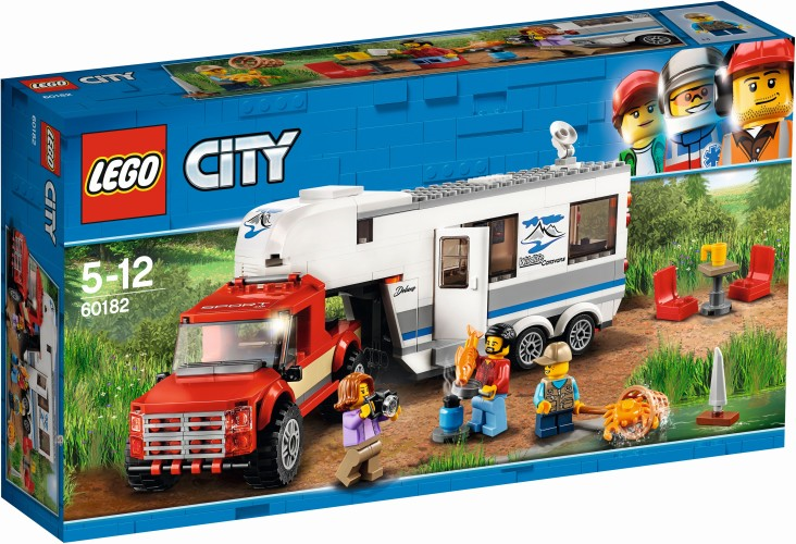 Pick-up Truck en Caravan Lego (60182)