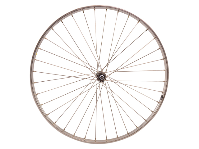 WIEL A 28X1 1/4 - 19-622 ZAC19 ZILVER VASTE AS SUNRACE FREEWHEEL RVS SPAAK