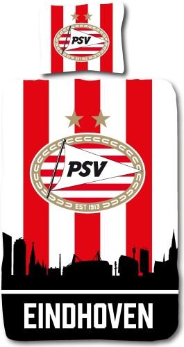 PSV Dekbed rood-wit Skyline