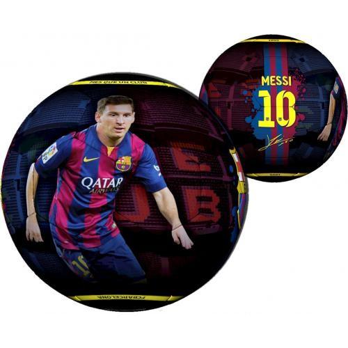 Barcelona Bal Leer Groot Messi Rood/blauw