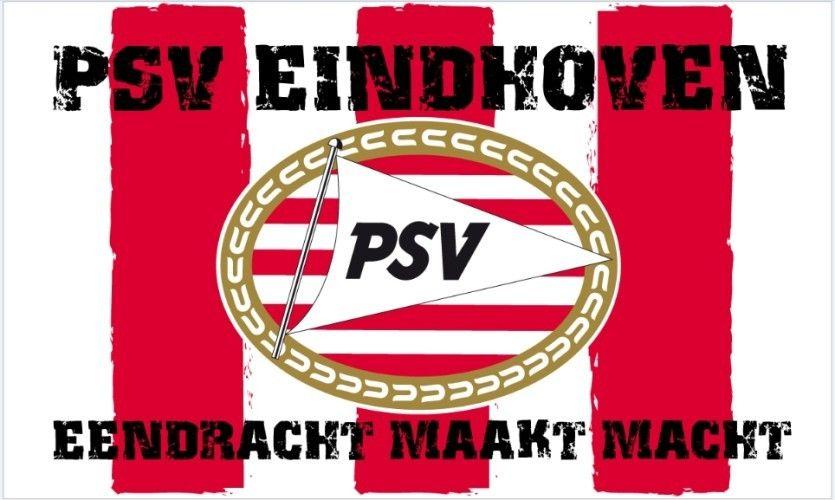 Vlag PSV Reus 150x220 cm wit/rood Eendracht