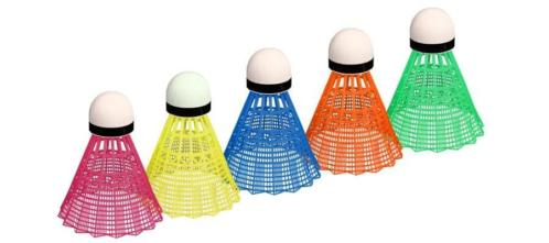 BADMINTON SHUTTLES IN KOKER MULTI-COLOR 5