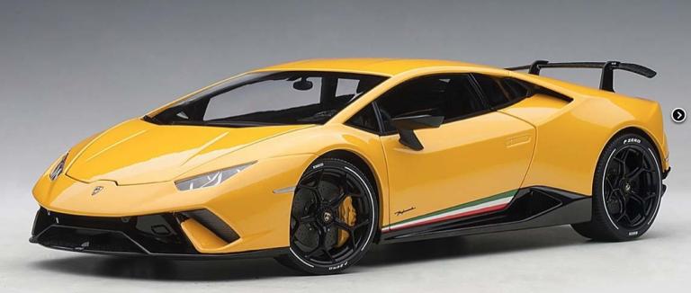 Lamborghini HURACAN PERFORMANTE 2017 (GEEL METALIC)AUTOART (1:18)