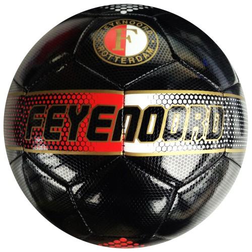 Bal Feyenoord leer groot Zwart BAL0200859
