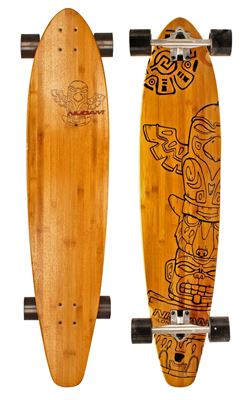 Longboard 42INCH Kicktail Bamboo Totem