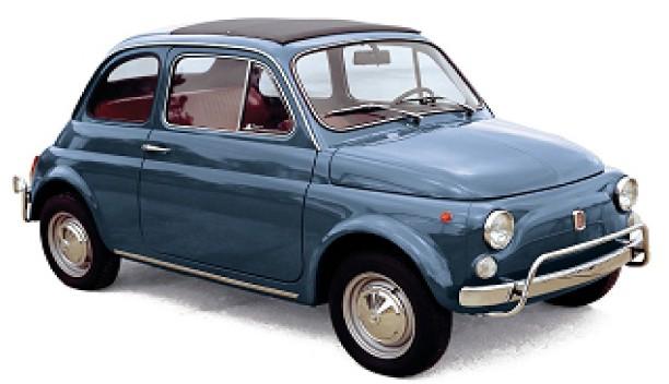 FIAT 500L 1968 BLAUW NOREV (1:18)