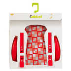 Qibbel stylingset luxe achterzitje checked red