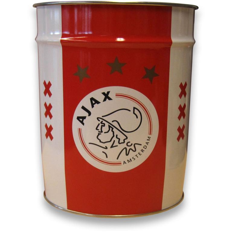 Ajax Prullenbak Wit/Rood/Wit