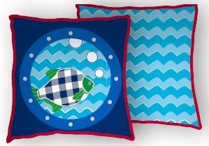 Kussen Lief Fishing Blue