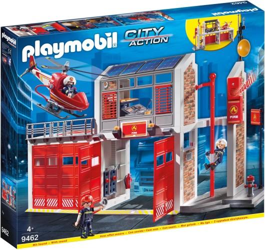 Grote brandweerkazerne met helicopter Playmobil (9462)