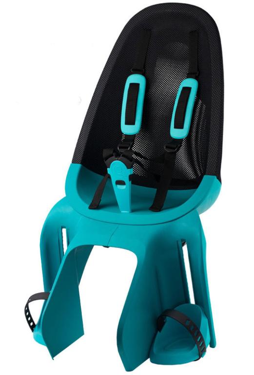 Qibbel Air Fietsstoeltje Achter Bagagedrager bevestiging (Turquoise)