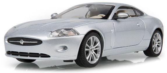 Jaguar XK COUPE ZILVER (WELLY) (1:24)