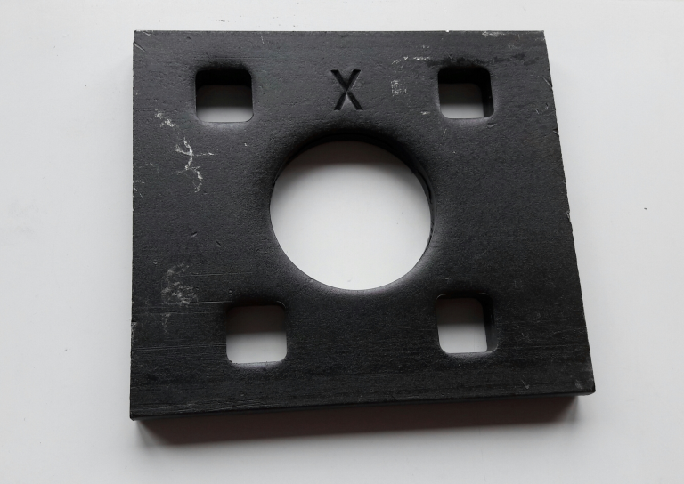 Towball plate 90x80x8 mm