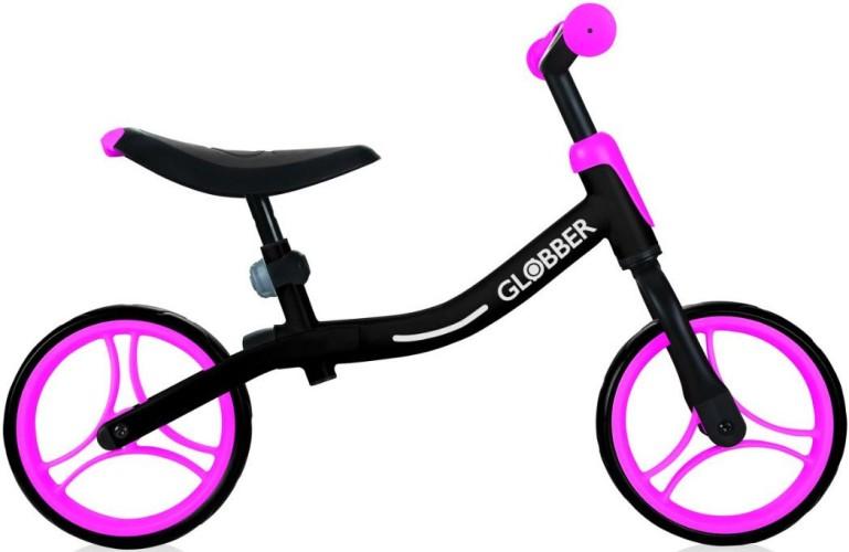 Loopfiets Go Bike Globber(zwart-roze) (61013)