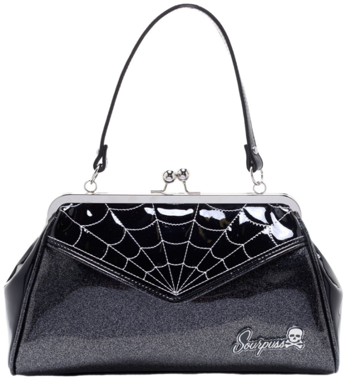 SOURPUSS Spiderweb Bacspiderweb Backseat Tas Black