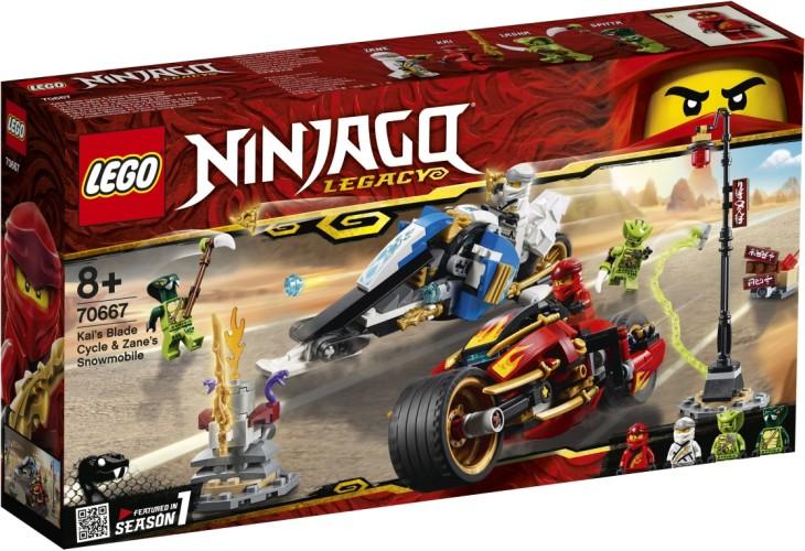 Zwaardmotor Kai & Sneeuwscooter Zane Lego (70667)