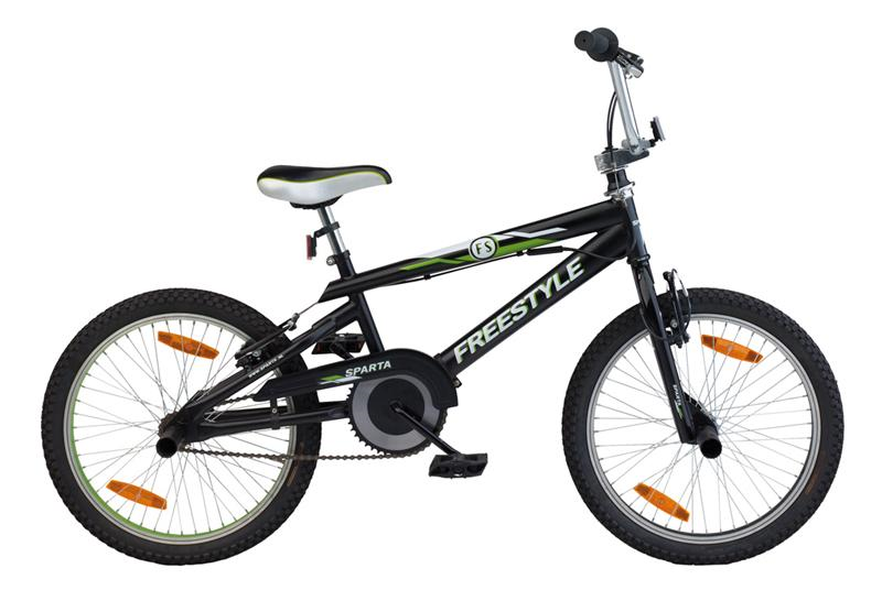 20INCH SPARTA FREESTYLE JS  BLACK/GREEN