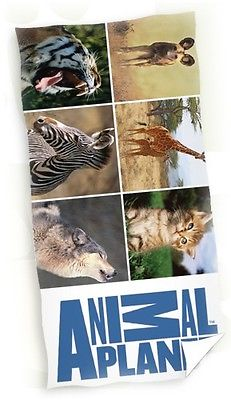Badlaken Animal Planet Dieren 150x75