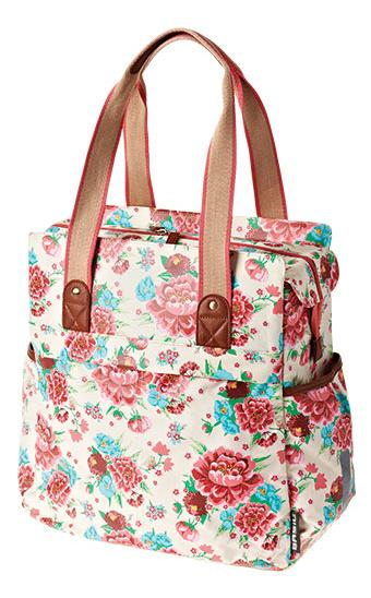 TAS BAS BLOOM SHOPPER GARDENIA WIT 17L