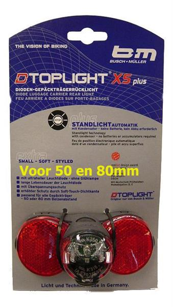 ACHTERLICHT B&M TOPLIGHT XS PLUS LED DYN STL 80MM