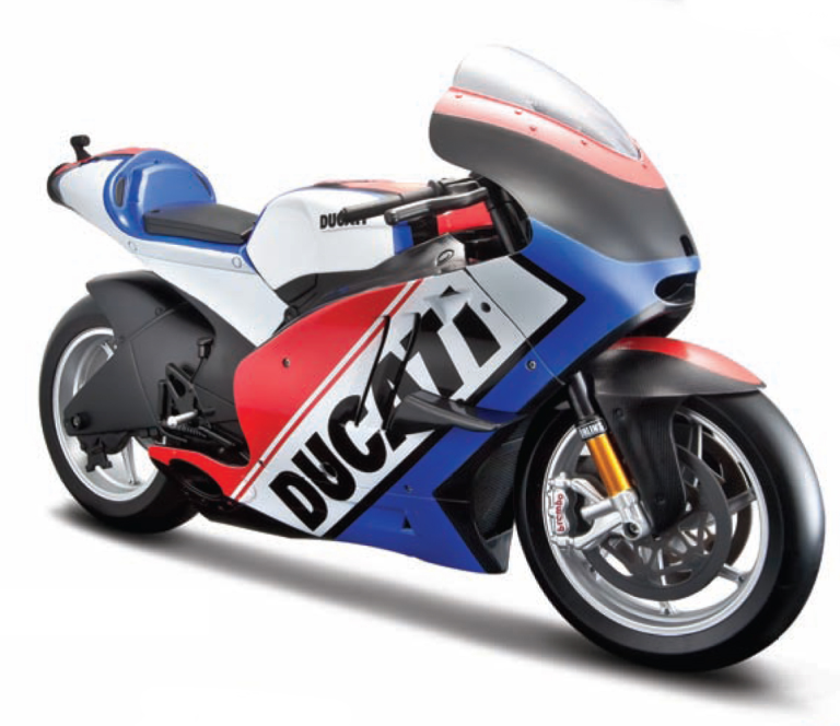 DUCATI DESMOSEDICI DUCATI WORLD CYCLE SERIES 2011 (blauw/wit/rood) MAISTO (1:6)
