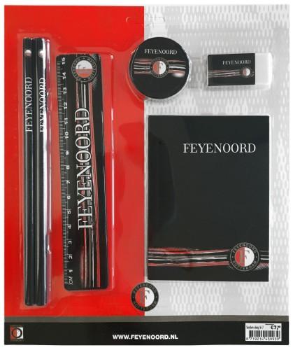 Schrijfset Feyenoord 6-Delig Zwart