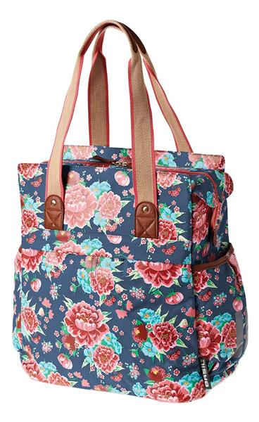 TAS BAS BLOOM SHOPPER INDIGO BLAUW 20L