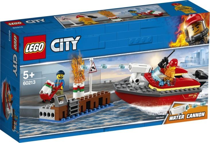 Brand aan de kade Lego (60213)