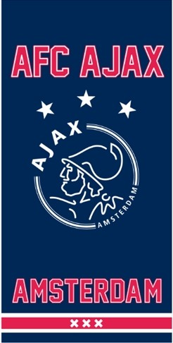 Handdoek Ajax blauw since 1900 50x100 cm