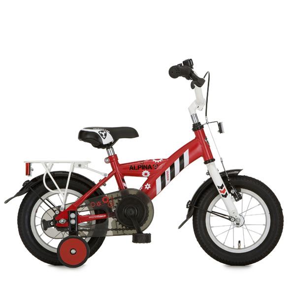 Alpina fiets Yabber 12 jongens r rood