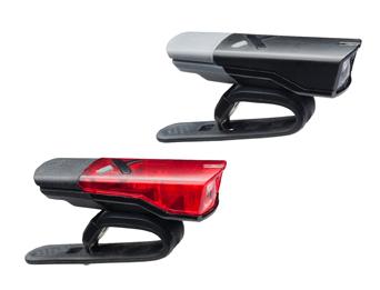 LAMPSET VOOR EN ACHTER LED AXA BATTERIJ AGENA SET USB OPLAADBAAR